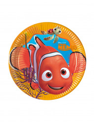 8 Petites assiettes en carton Nemo™ 20 cm