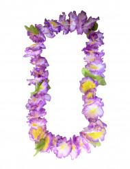 Collier fleurs hawaïennes violet