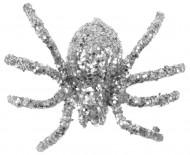 6 araignées pailletées argent