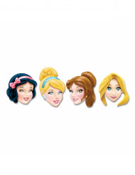 Lot de 4 Masques en  carton Princesses Disney™