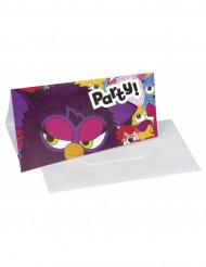 6 cartes d'invitation en carton Furby™