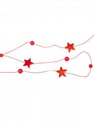 Guirlande étoiles rouges 180 cm