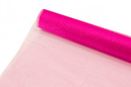 Chemin de table oranza brillant fuchsia 28 cm x 5 m