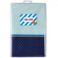 Nappe en papier bleue 180 x 120 cm