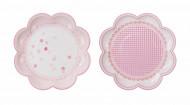 8 Petites assiettes en carton Pink party 20 cm