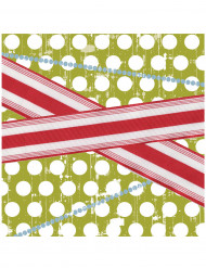 16 Serviettes en papier Père Noël rétro 39 x 39 cm