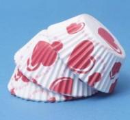 60 moules à cupcake cœurs
