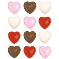 Moules pour cœurs en chocolat