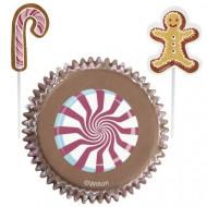 Set moules à cupcakes et pics de décoration Friandises