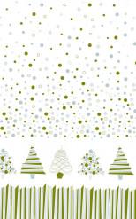 Nappe en rouleau papier damassé Sapins graphiques 6 mètres
