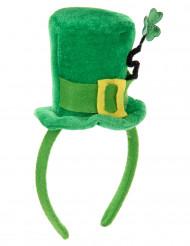 Serre-tête mini chapeau tige trèfle femme Saint Patrick