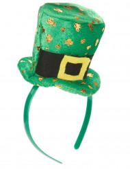 Serre-tête mini chapeau femme Saint Patrick