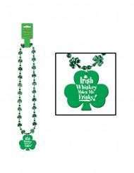 Collier trèfles vert St Patrick
