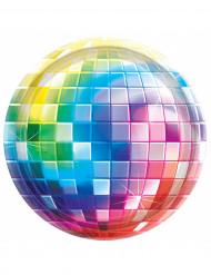 8 Assiettes en carton Disco Boule à facettes 26 cm