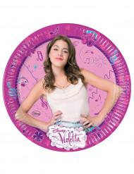 8 Assiettes en carton Violetta™ 23 cm