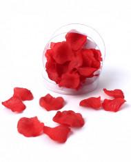 50 Petits pétales de rose en tissu rouge 2 cm