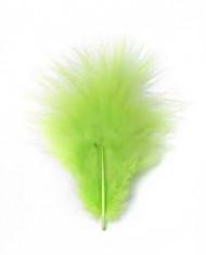 Plumes vertes de décoration 10 grammes
