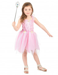 Déguisement fée princesse rose fille
