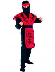 Déguisement ninja dragon rouge garçon
