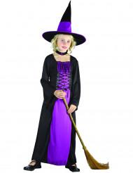 Déguisement sorcière violette fille