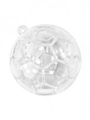 3 Contenants en plastique ballons de foot transparents 5 cm