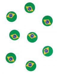 150 confettis de table drapeau Brésil