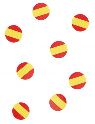 150 Confettis de table drapeau Espagne