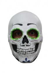 Masque squelette contour des yeux vert