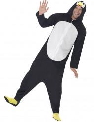 Déguisement combinaison pingouin avec capuche adulte