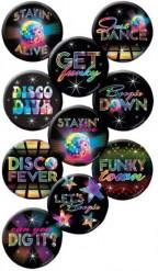 10 Badges Disco 4.5 cm