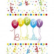 6 Sacs cadeaux Happy birthday 16.5 x 23 cm