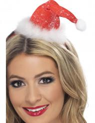 Mini chapeau scintillant Mère Noël femme