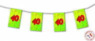 Guirlande fanions papier 40 ans 4m