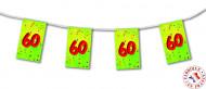 Guirlande fanions papier 60 ans 4m