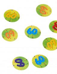 150 confettis de table 60 ans