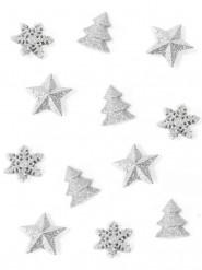 12 Décorations de table Noël argent