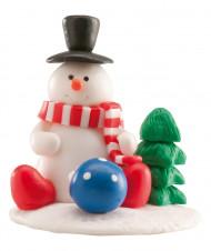 Décoration gâteau bonhomme de neige