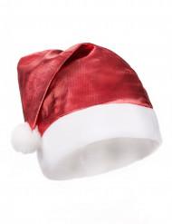 Bonnet métallisé rouge adulte Noël