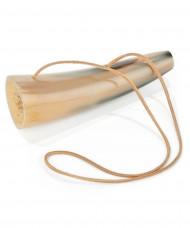 Corne sonore avec bande de cuir 15 cm