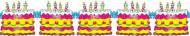 Guirlande gâteaux d'anniversaire 3 mètres