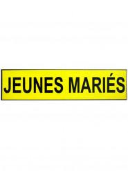 Plaque magnétique pour voiture Jeunes Mariés