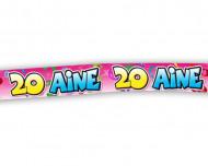 Banderole anniversaire 20 ans