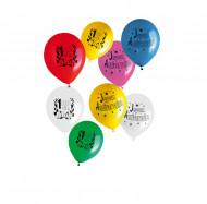 Sachet 8 ballons Joyeux Anniversaire
