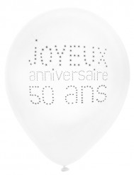 8 Ballons 50 ans Anniversaire chic