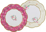 12 Petites assiettes en carton Poney Club 17 cm