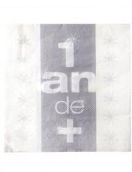 10 Serviettes en papier Anniversaire 33 x 33 cm
