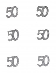 6 Confettis anniversaire 50 ans