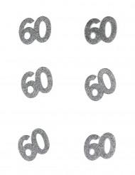6 Confettis anniversaire 60 ans