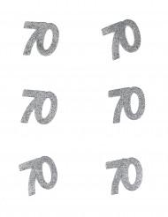 6 Confettis anniversaire 70 ans 6 x 5 cm