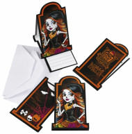 6 Cartes d'invitation Monster high™